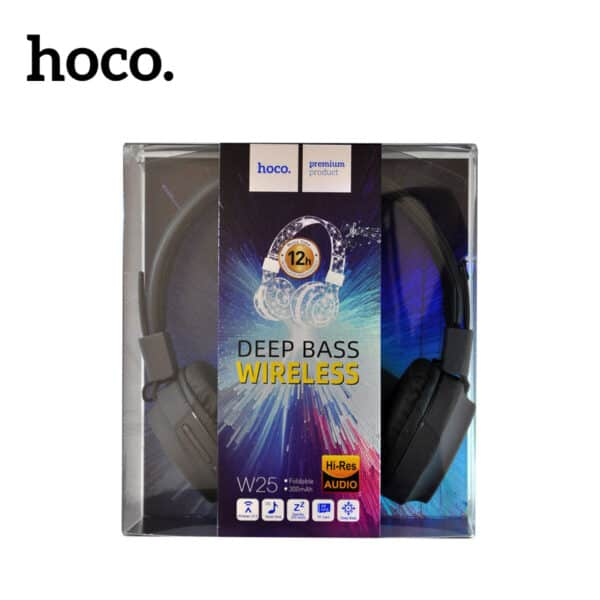 Hoco deep bass wireless w25 wired and wireless bluetooth headphones with microphone