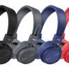 Hoco w25 wired and wireless headphones with microphone in black, red, blue and grey colour