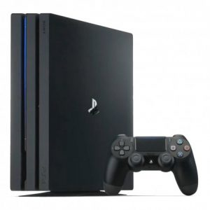 Refurbished sony playstation 4 pro ps4 1tb hard drive black gaming console with single black controller