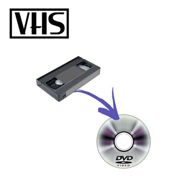 Vhs digitisation service with transfer to dvd disc