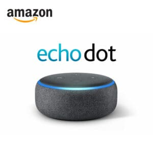Amazon echo dot 3rd generation smart speaker in charcoal with alexa voice function