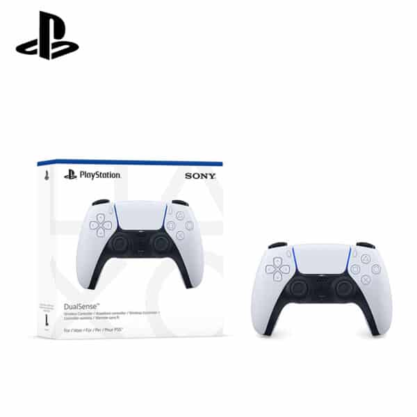 Playstation 5 dualsense wireless gaming controller in white