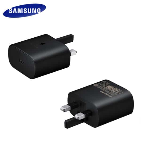 New Samsung 3 pin usb type c charger plug in black