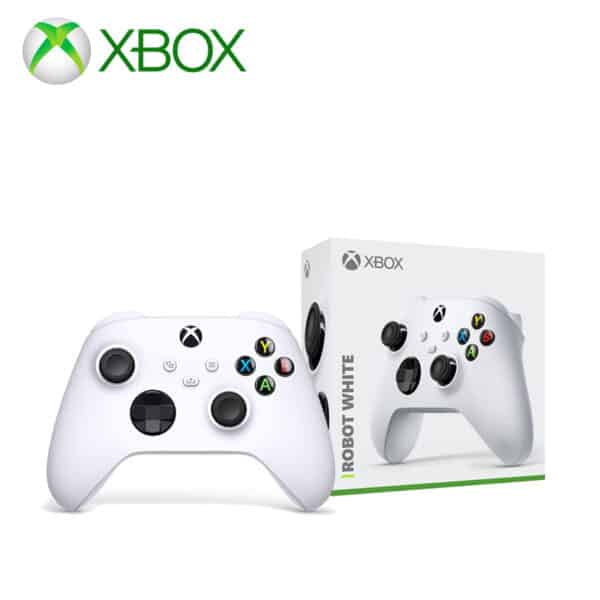 Xbox wireless gaming controller in robot white with box