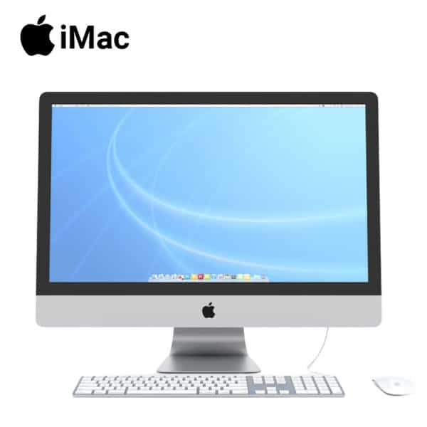 apple imac 27 inch with keyboard and mouse