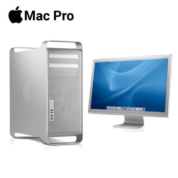 apple mac pro desktop machine with 23 inch hd cinema display