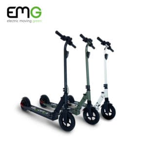 emg velociptor skill three scooters white black and military green