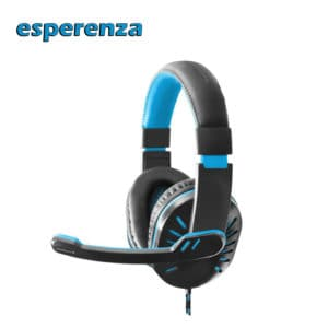 esperenza hx330 blue gaming headphones with microphone