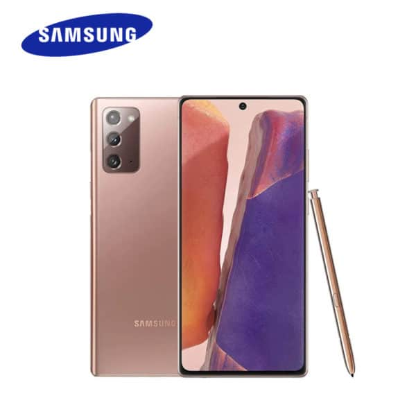 samsung galaxy note 20 with s pen in various colours