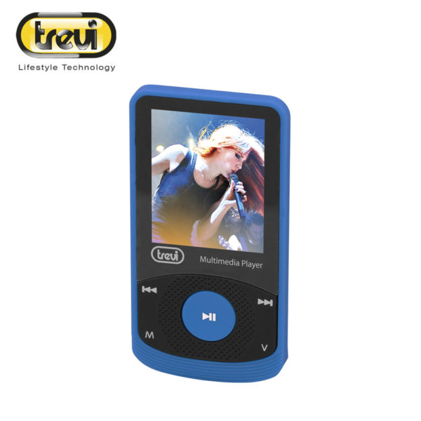 trevi blue mini multimedia player with one point eight inch screen