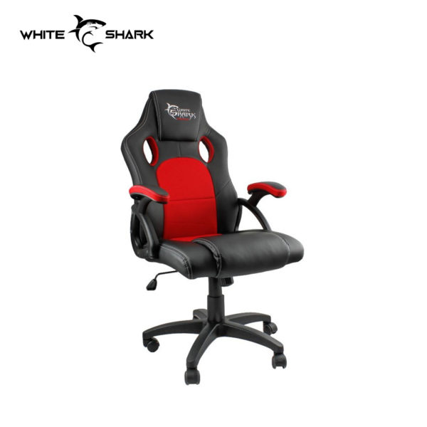 white shark y2706 black and red gaming chair