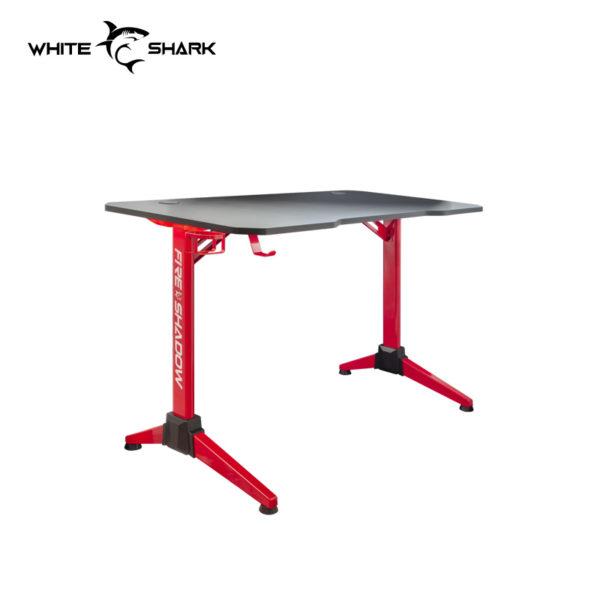 whiteshark rgb led illuminated gaming desk