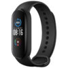 xiaomi mi smart band 5 health and fitness tracker smart watch front side view in black